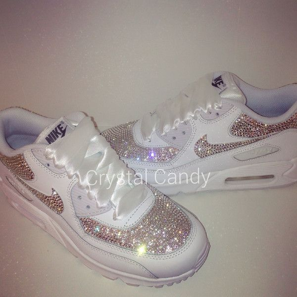 19ae6d1597a Crystal Nike Air Max 90's in White (fully crystallised) in 2019 ...