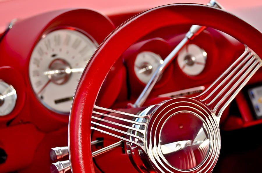 Dashboard Red Classic Car Photograph   Amazing Classics   Pinterest ...