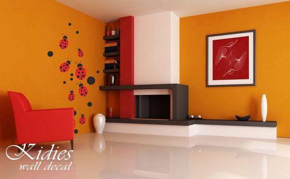 Ladybugs vinyl wall decal Wall sticker 83x39 210x100 by Kidies