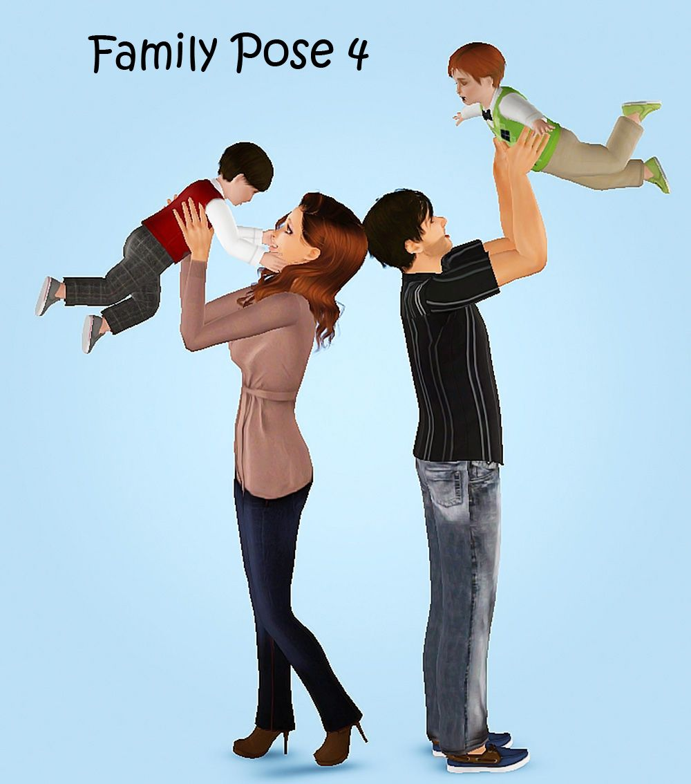 Mod the sims family pose pack