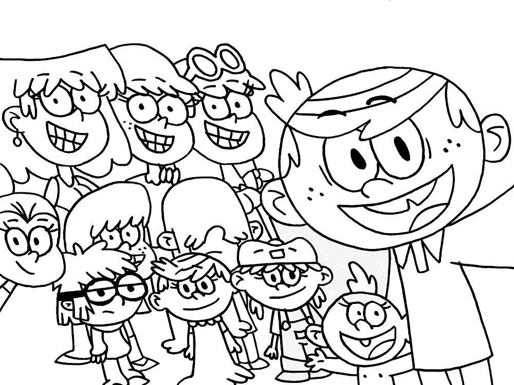Loud House Coloring Pages Cartoon House Colouring Pages, Coloring Pages,  Frozen Coloring Pages