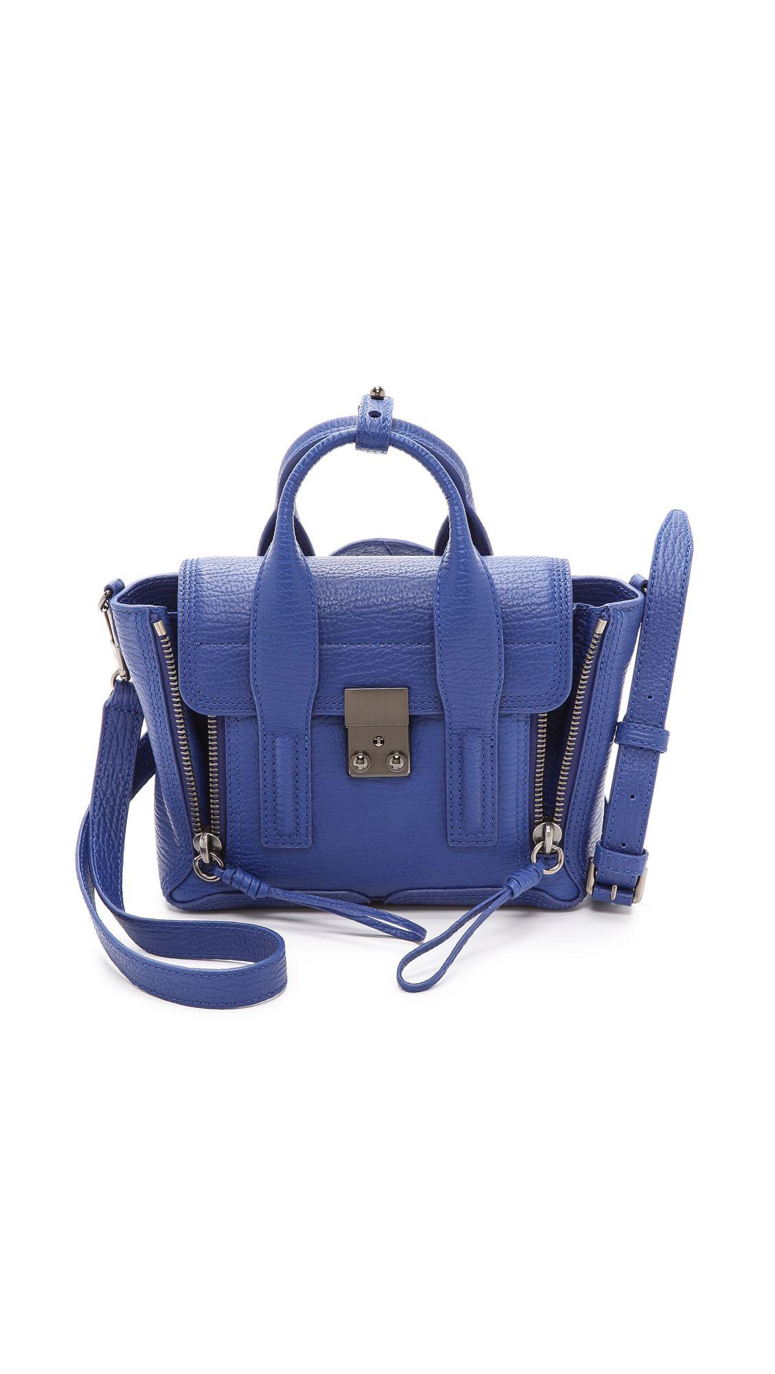3.1 Phillip Lim Pashli Mini Satchel - Cobalt | SHOPBOP.COM saved by  #ShoppingIS