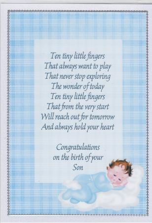 a4 congratulations on the birth of your baby boy insert on craftsuprint designed by susan heanes made by susan cummings i added the text using psp x5
