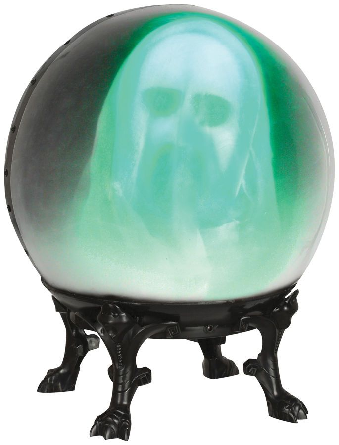 crystal ball wface out ghost animated prop scary halloween decoration new