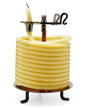 60 HOUR CANDLE | Coiled Beeswax Candle Love beeswax and candles
