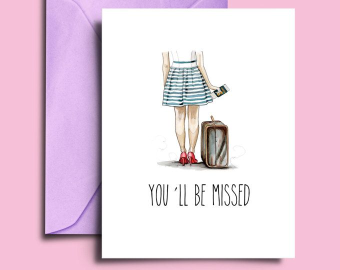 Goodbye Cards For Friends Going Away Card Printable A5