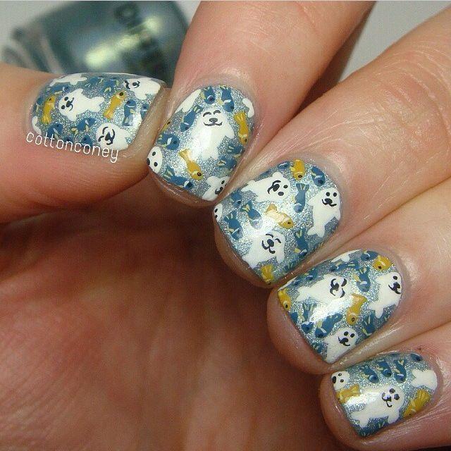 Sea Lion Nails Cool Nail Designs Pinterest Winter Nails