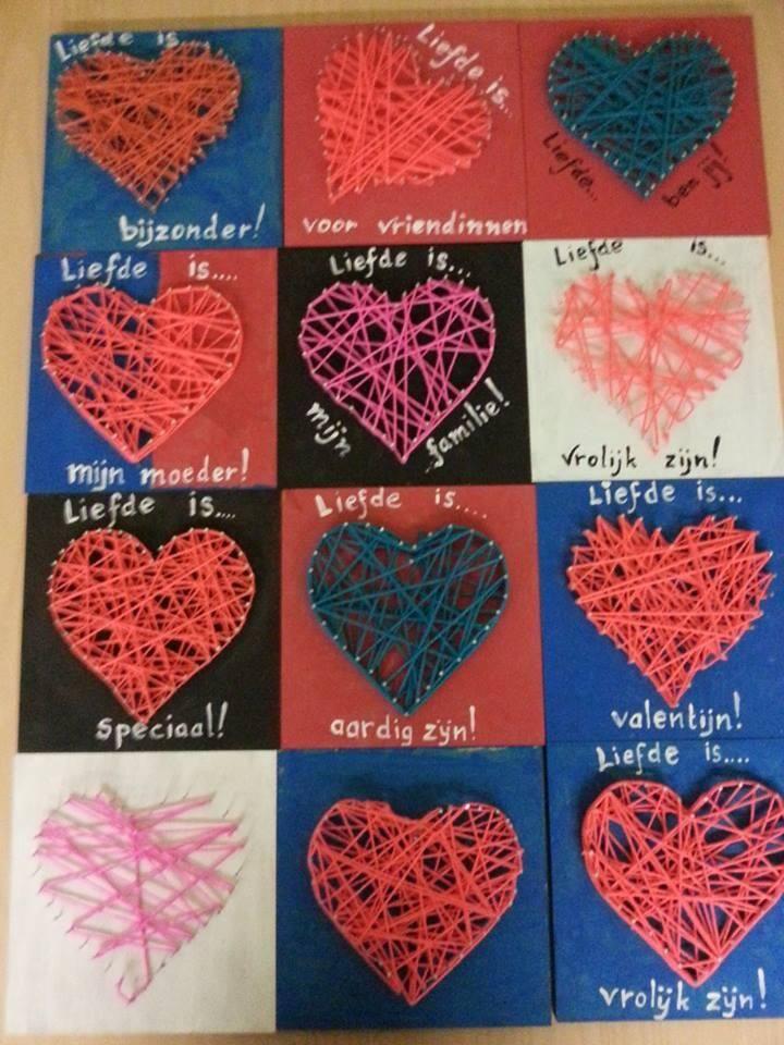 Spijkerhart Valentijn Pinterest