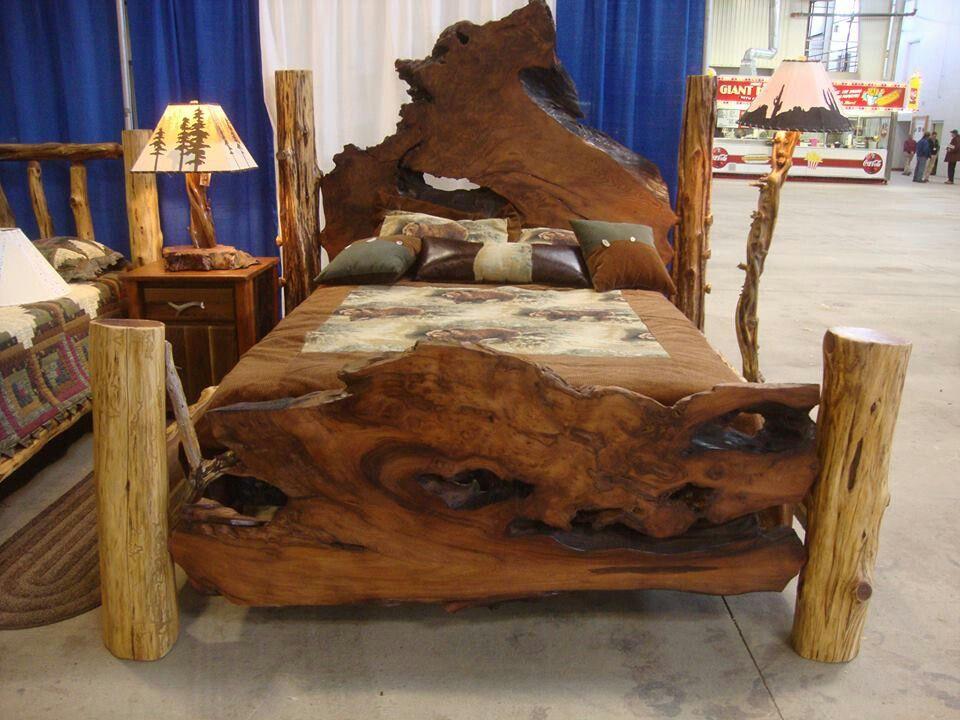 Pin By Anna Beard On Home Decor Dream House Rustic Wooden Bed Wooden Bed Frame Rustic Rustic Bedroom Furniture