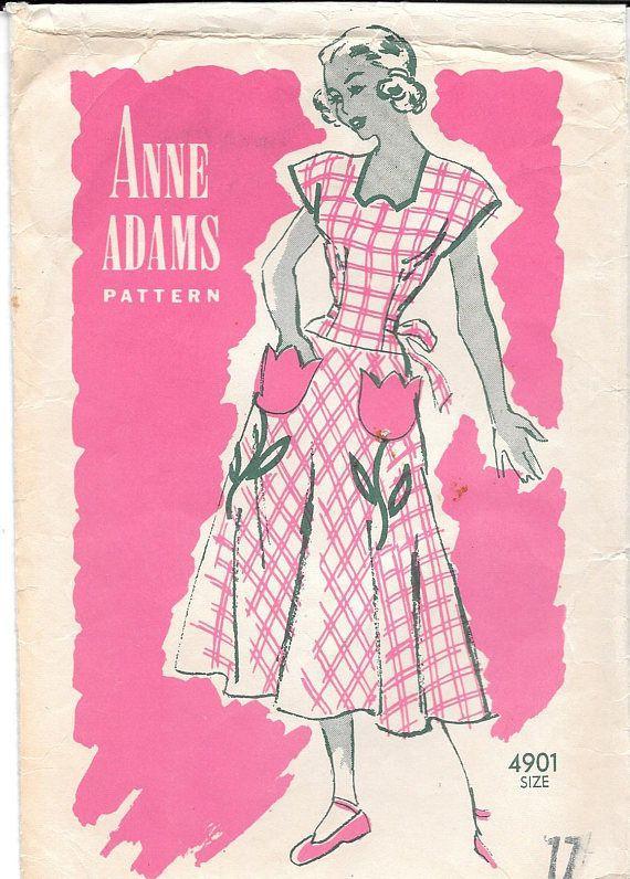 Vestido de verano de la década de 1940 patrón de costura | DELANTAR ...