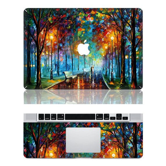 Oil Painting Apple Macbook Skin Front and Wrist Set-Macbook Skins, Macbook Decals, Macbook Sticker Sets, Macbook Accessories