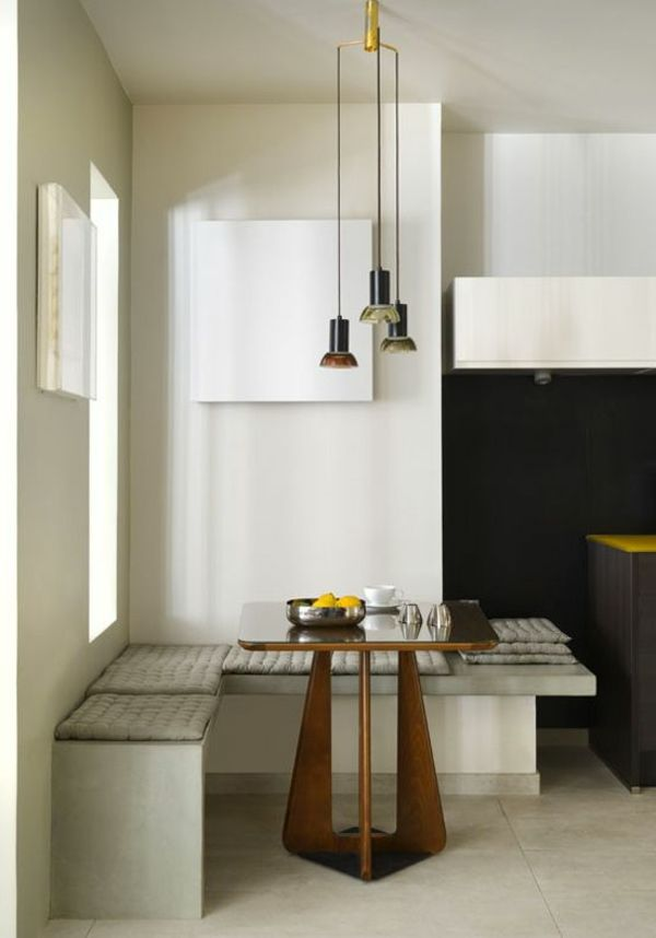 eckbank design esszimmer hängende lampen Sitzen Pinterest - esszimmer mit eckbank einrichten