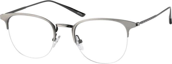 Zenni Vintage Browline Prescription Eyeglasses Gray Stainless Steel ...