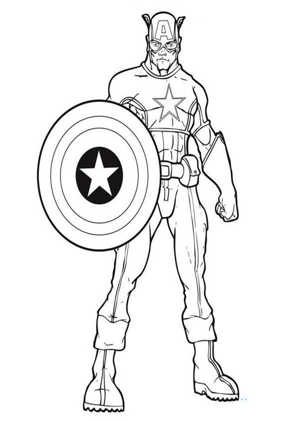 Captain America Coloring Page Superhelden malvorlagen