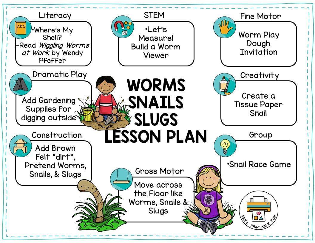 Pin On Worms Snails Slugs Preschool Activities