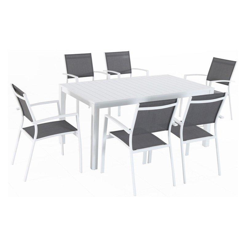 Mod Furniture Harper Aluminum 7 Piece Outdoor Patio Dining Set