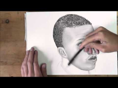 How To Draw Short Black Hair How To Draw Different People Of The Earth Youtube African Children Hair Painting Drawing People
