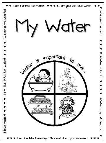 I Am Thankful For Water File Folder Game Primary Sunbeams Primary Lessons Sunbeam Lessons
