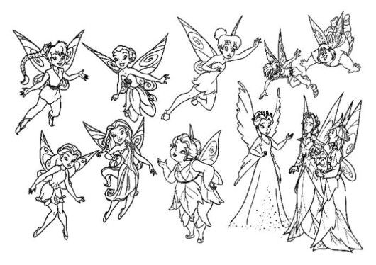 Tinkerbell And Friends Coloring Pages For Girls | Fairy ...