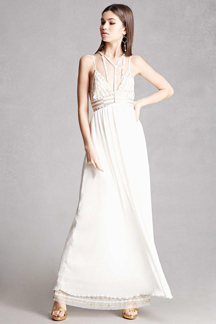 Name brand wedding dresses  A woven maxi dress featuring an abstract metallic woven design along