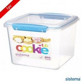 Borosil Sistema Cookie Tub Food Container 2350ml Blue  sc 1 st  Pinterest & Borosil Sistema Cookie Tub Food Container 2350ml Blue | Storage ...