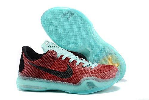2015 Nikes Zoom Kobe X (10) EM XDR men basketball shoes wine sky blue