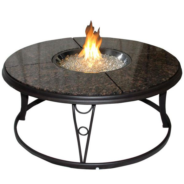 Granite Fire Pit Table By Outdoor Greatroom