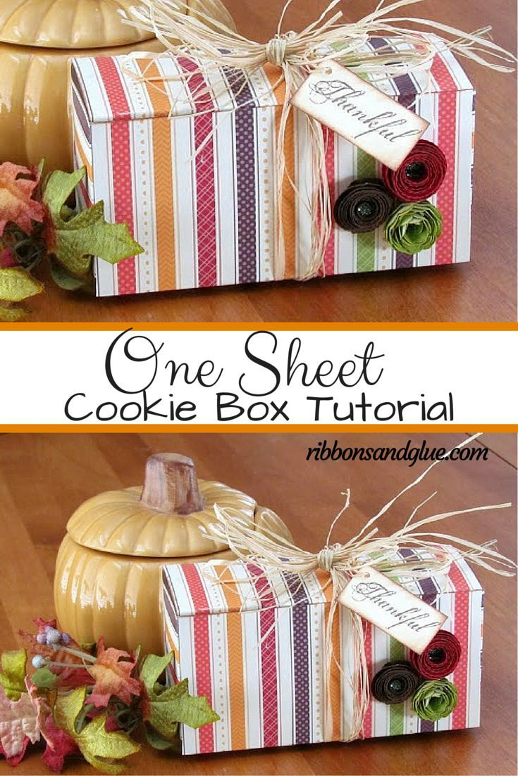 How to make a One Sheet Gift Box Crafts, Paper crafts