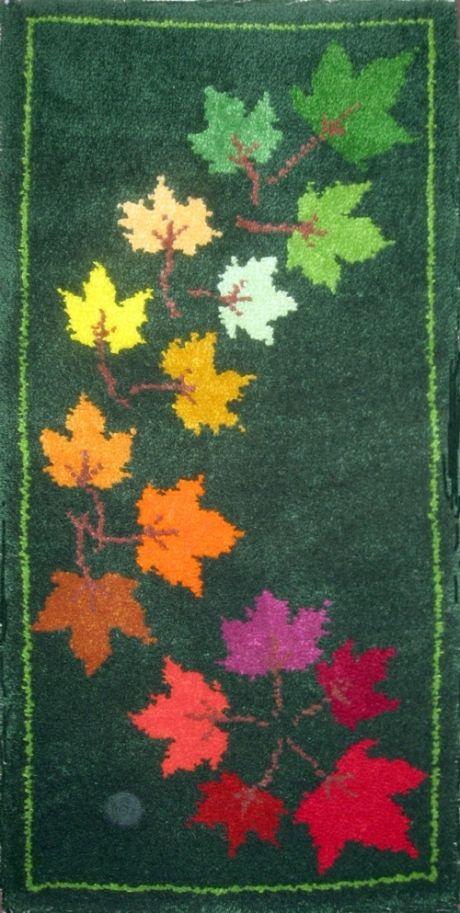 Autumn Leaves Rug Making Kit 68 X 137cm Latch Hook Pinterest