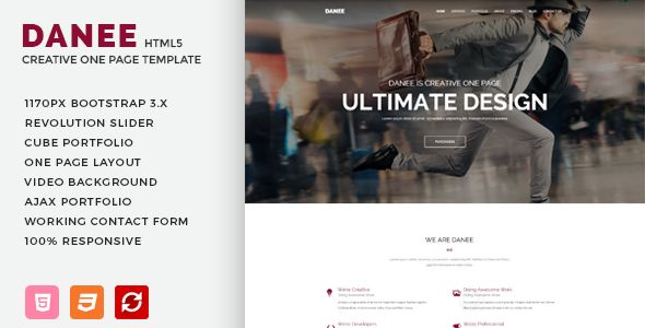 Danee onepage html5 template danee agency one html5 template danee agency one html5 template is a creative template small business websitestemplates flashek Gallery