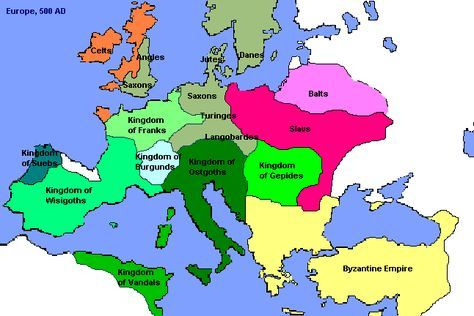 Germanic Tribes Of Europe Tribes From Northern Europe Known As