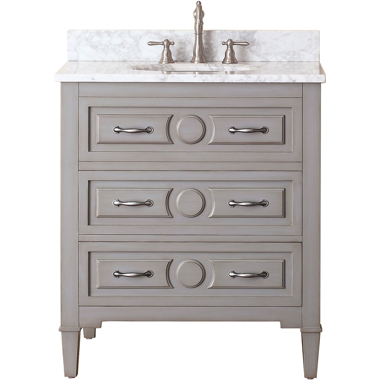 Avanity Kelly 30 Inch Vanity Combo In Grayish Blue With Top And Sink Vanity Combos Bathroom Vanity Combo Single Bathroom Vanity