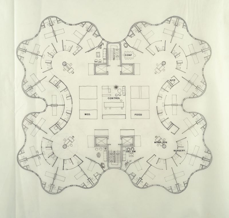 early floor plan Hospital architecture, Hospital floor plan