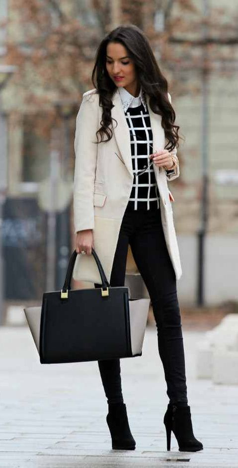 18 Stylish Office Outfit Ideas for Winter 2018 | Stylish office