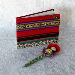 Une idée cadeau dans l'air du temps ! Parure carnet et stylo d'Amérique latine