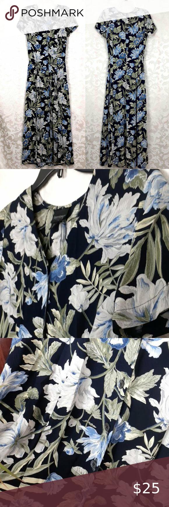 Karen Kane Dark Floral Maxi Dress Floral Maxi Dress Dark Floral Floral Maxi [ 1740 x 580 Pixel ]