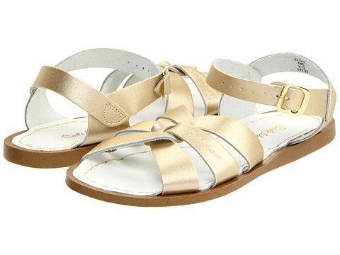 Salt Water Sandals: Original Sandal Big Kid/Women (Gold)