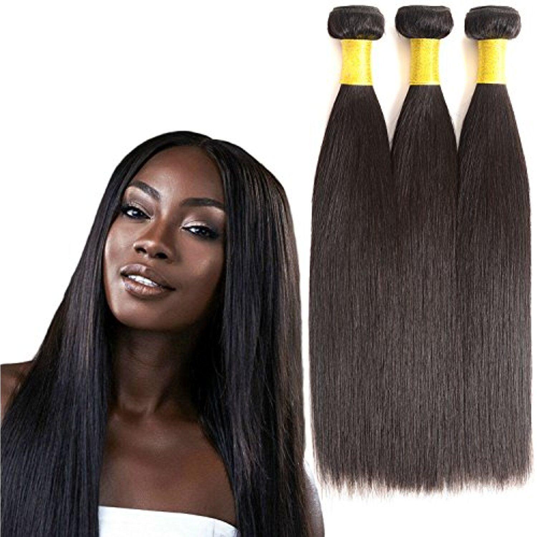 Hlsk Hair Brazilian Straight Hair 3 Bundles Virgin Unprocessed Human