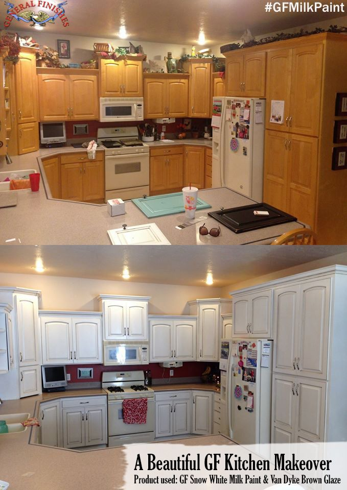 gorgeous kitchen transformation with general finishes snow white