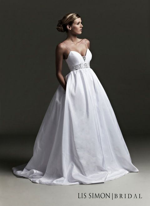 2da80a87d9d7 Image detail for -Taffeta wedding dress with pockets | Tie the Knot ...