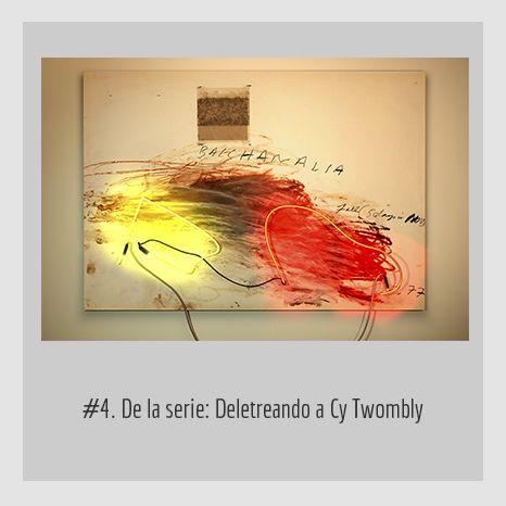 #4. DE LA SERIE: DELETREANDO A CY TWOMBLY. YENY CASANUEVA Y ALEJANDRO GONZÁLEZ. PROYECTO PROCESUAL ART.
