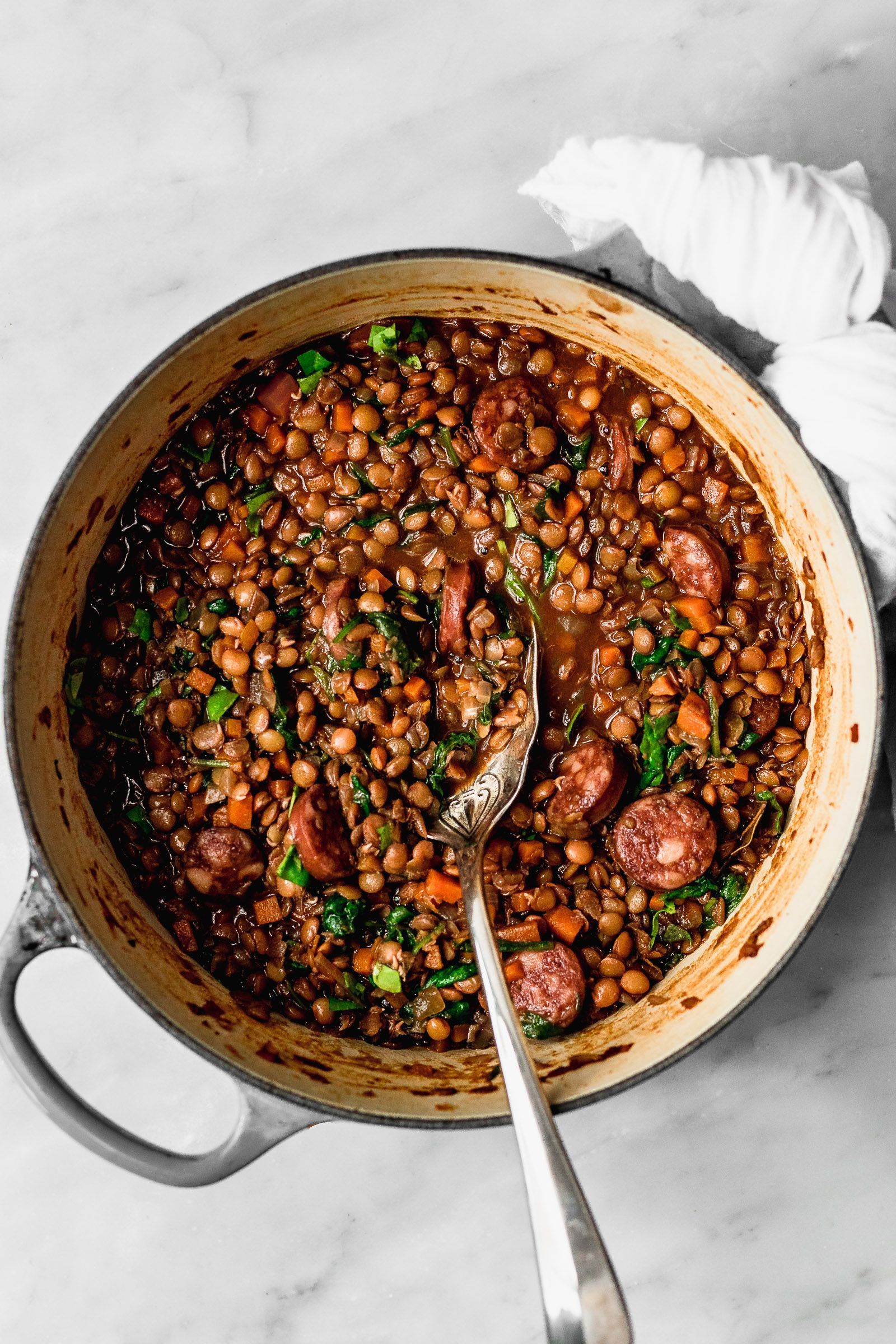 Lentejas Con Chorizo Cravings Journal Receta Lentejas Lentejas Receta Recetas Con Chorizo