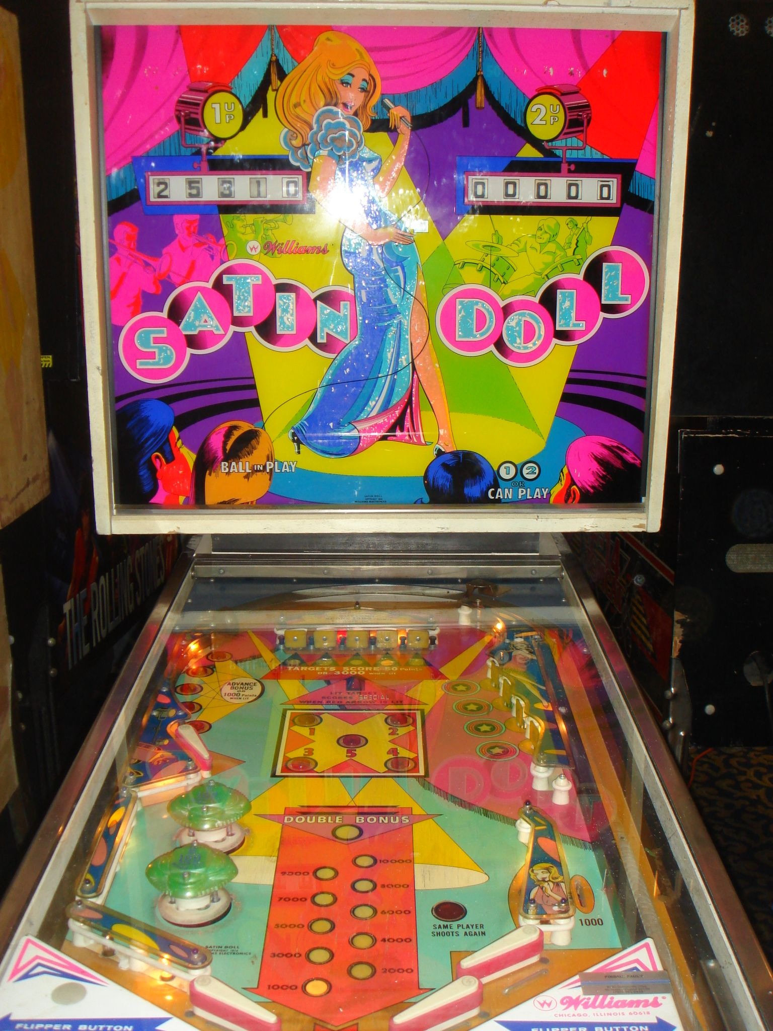 1975 Satin Doll Williams Pinball Machine Pinball Pinball Machines Pinball Machine
