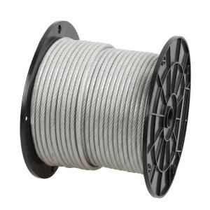 Everbilt 3 32 In 1 8 In X 250 Ft Galvanized Vinyl Coated Wire Rope 11950 At The Home Depot Stainless Steel Cable Galvanized Stainless Steel Wire