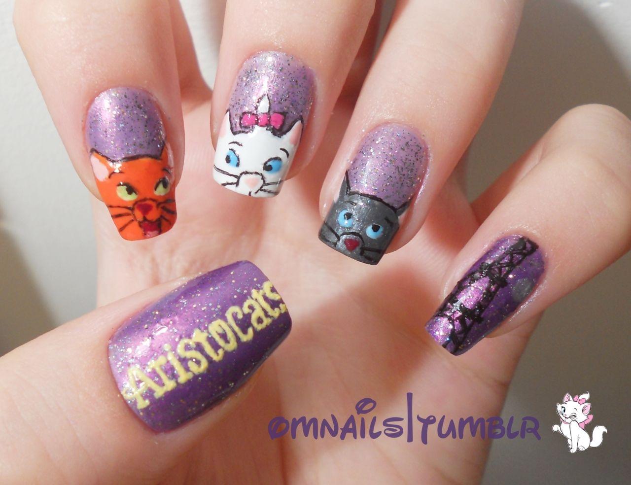 Aristocats nail design   Disney   Pinterest