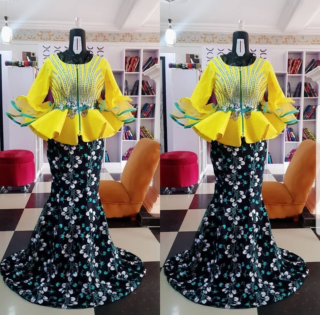 Style Inspiration By Clairdesigns Styleinspiration Asoebi Owanbe Naijapa African Lace Dresses Latest African Fashion Dresses African Print Fashion Dresses