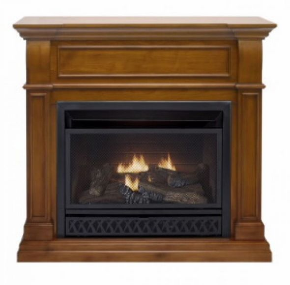 Procom Apple Spice Ventless Gas Fireplace Dual Use Surround