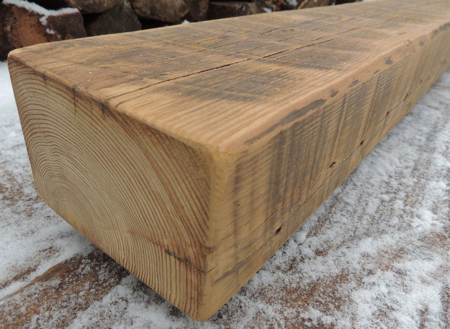 Rustic Barn Beam Reclaimed Douglas Fir Fireplace Mantel Or Mantle Shelf 62 1 2 X 5 3 4 X 4 Over 100 Years Old Fireplace Mantels Barn Beams Rustic Fireplace Mantels