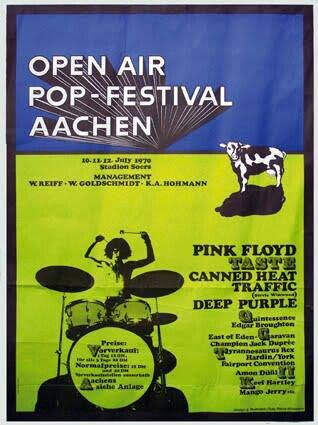 Pink Floyd op het Open-Air-Popfestival in Aachen, D