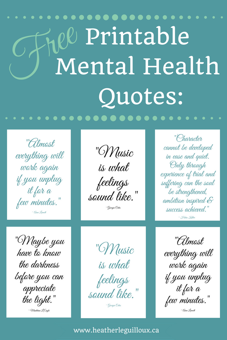 Free printable mental health quotes hleguilloux based on